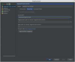 setup server in PHPStorm
